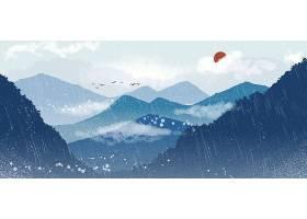 中国风山水画