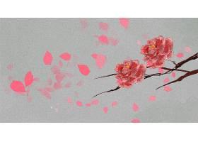 花朵水彩画