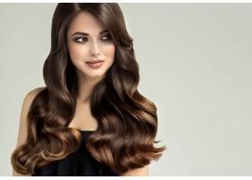 女人,模特,,妇女,女孩,黑发女人,长的,头发,棕色,眼睛,壁纸,(4)