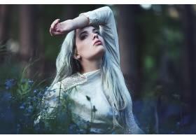 女人,情绪,妇女,模特,女孩,白色,头发,深度,关于,领域,长的,头发,