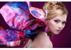 女人,情绪,妇女,模特,女孩,脸,白皙的,口红,蓝色,眼睛,壁纸,图片