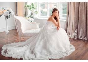 女人,新娘,妇女,模特,女孩,白色,穿衣,蓝色,眼睛,婚礼,穿衣,白皙