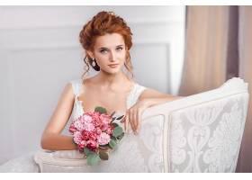 女人,新娘,妇女,模特,女孩,红发的人,耳环,酒香,花,蓝色,眼睛,壁