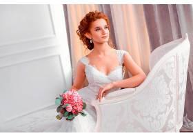 女人,新娘,妇女,模特,女孩,红发的人,酒香,白色,穿衣,婚礼,穿衣,