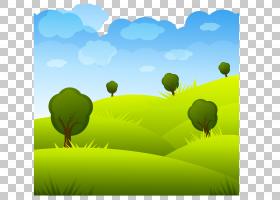 热气球剪影,草,草原,绿色,树,生态系统,商品,植物,场,白天,天空,