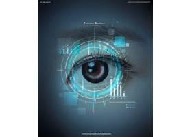 人物眼睛主题医学科技医疗卫生背景