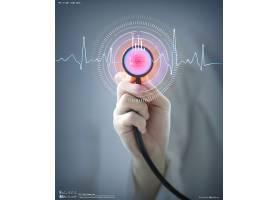 听诊器主题医学科技医疗卫生背景