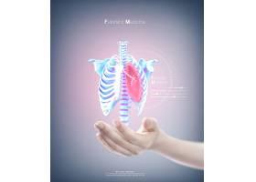 心血管动脉主题医学科技医疗卫生背景