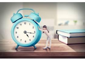 创意抽象时间概念主题钟表虚拟场景海报设计图片