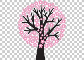 夏季花卉背景,花卉设计,花瓣,植物,分支,叶,木本植物,粉红色,夏天