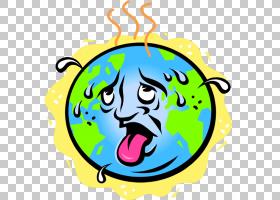 全球变暖卡通,圆,微笑,黄色,科学,臭氧,自然环境,孩子,温室效应,图片