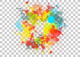 绘制画笔纹理,天空,丙烯酸涂料,圆,花瓣,黄色,儿童艺术,水彩画,刷