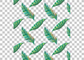 绿叶水彩画,草,植物茎,植物,主题,软件,水彩画,绘图,热带,叶,