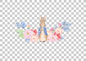 水彩婚礼邀请函,复活节,复活节兔子,模式,粉红色,碧翠丝・波特,动图片