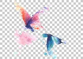 水彩抽象背景,机翼,传粉者,水彩画,绘图,颜色,抽象艺术,版画制作,