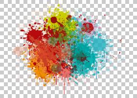 溅射抽象背景,花卉设计,圆,黄色,花,花瓣,刷子,飞溅,抽象艺术,涂