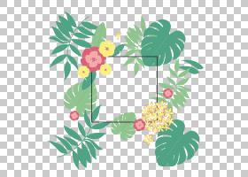 绿叶水彩画,花卉,插花,植物茎,花瓣,树,分支,植物,植物群,绿色,图