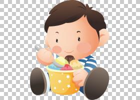 冰淇淋卡通,手指,蹒跚学步的孩子,微笑,鼻子,脸颊,播放,男孩,甜点