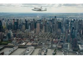 城市,城市,新建,约克,建筑物,摩天大楼,飞机,航天飞机,空间,