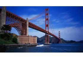 金色的,大门,桥梁,桥梁,海洋,壁纸,