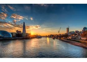 伦敦,城市,一致的,王国,直接热轧制,泰晤士河,河,壁纸,