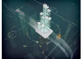 体系结构,形状,技术,3D,壁纸,