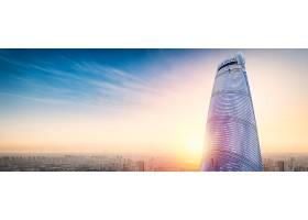 曙光与城市建筑
