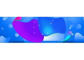 电商蓝色海报素材