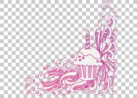 生日蛋糕画,书法,线路,墙壁贴纸,爱,面积,线条艺术,粉红色,洋红色