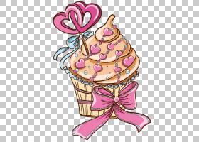 冰淇淋锥形背景,糖果,甜点,食物,冰淇淋蛋卷,花,粉红色,糖果,糕点