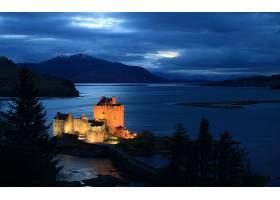 艾琳,多南,城堡,城堡,一致的,王国,壁纸,