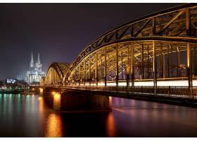 桥梁,桥梁,古龙水,教堂,大教堂,夜晚,壁纸,