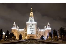 莫斯科,城市,俄罗斯,夜晚,灯光,建筑物,大学,壁纸,