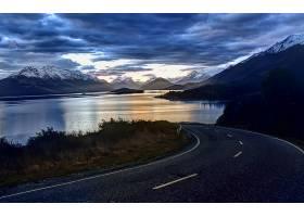 路,风景,山,风景优美的,天空,云,壁纸,