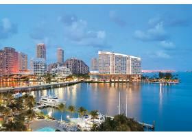 迈阿密,城市,一致的,州,城市,佛罗里达,壁纸,