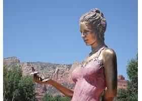 雕像,青铜,壁纸,
