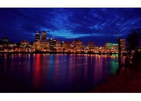 城市,城市,夜晚,灯光,壁纸,