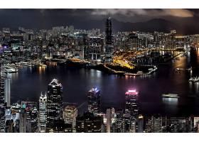城市,城市,夜晚,灯光,建筑物,风景优美的,摄影,壁纸,