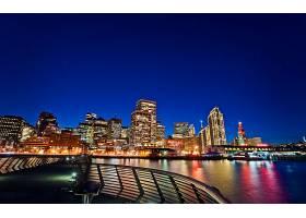 城市,城市,存储区域网,弗朗西斯科,建筑物,摩天大楼,夜晚,灯