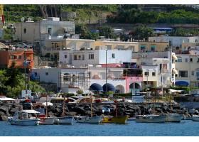 城镇,风景优美的,别墅,小船,意大利,壁纸,