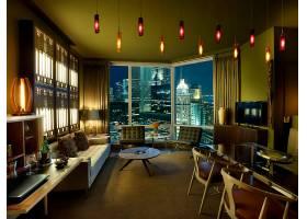房间,城市,建筑物,内部,风格,休息室,沙发,椅子,灯,窗户,窗