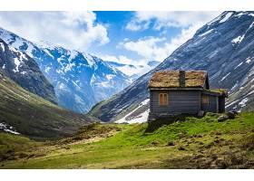 小木屋,房子,风景,云,天空,雪,壁纸,