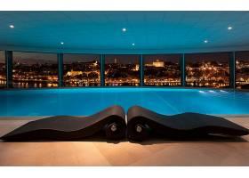 房间,泳池,风景优美的,城市风光,城市,夜晚,壁纸,
