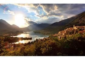 村庄,城镇,意大利,壁纸,