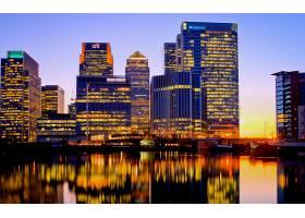 城市,城市,一致的,王国,英国,伦敦,金丝雀,码头,泰晤士河,夜