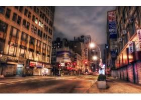 城市,城市,体系结构,建筑物,地方,夜晚,灯光,街道,路,直接热