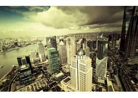 城市,城市,城镇,大都市,建筑物,摩天大楼,天空,云,壁纸,