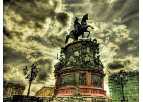 雕像,彼得堡,青铜,马术师,直接热轧制,俄罗斯,壁纸,