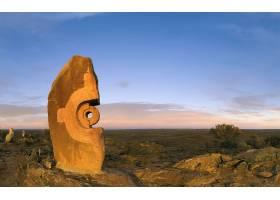 雕像,澳大利亚,内地,云,蓝色,天空,壁纸,