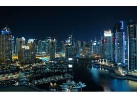迪拜,城市,一致的,阿拉伯人,阿联酋航空公司,城市,建筑物,夜
